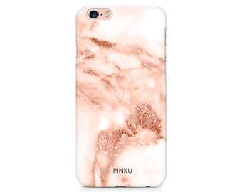 Rose Gold Effect Marble Phone Case, Marble iPhone 8, iPhone 7, iPhone 6/6s, iPhone 6/7 Plus, iPhone 5/5s, iPhone SE Samsung Galaxy S7 S6 S8