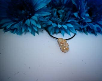 Rutilated Quartz - Wire Wrapped Necklace