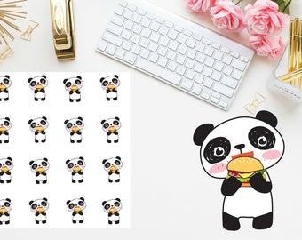 food loving panda Planner stickers