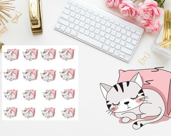 Napping Cat Planner Stickers