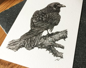 Raven A5 Print- Limited Edition