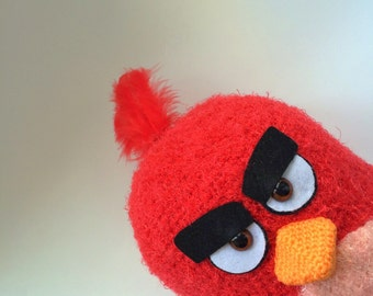 Red angry bird crochet doll