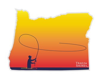 Oregon Fly Fishing Decal