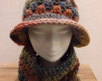 Complete wool hat and neck warmer