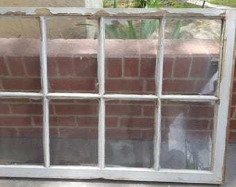 40X28 8 Pane old antique shabby vintage window sash farm house shabby chippy rustic