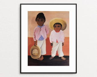 Diego Rivera - The Sons of My Compadre, 1930 - Vintage Book Page - Mexican Art - Diego Rivera Print - Diego Rivera Painting - Mexican Decor