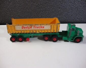 Matchbox Lesney Diecast DumpTruck Vintage Toy Tractor & Trailer Dodge Trucks