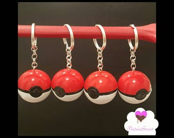 Pokeball Keychains Party Favors- Pokemon Themed Party- Pokemon Party Favors, Pokeball Party Favors