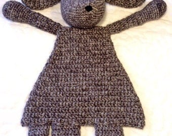Brown puppy dog rag doll blanket security lovey