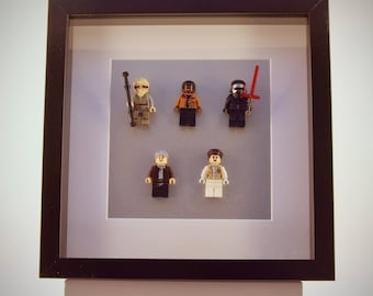 Star Wars mini Figures The force awakens framed picture 25 by 25 cm