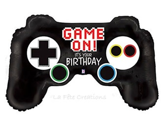 "Video Game Controller Balloon Large 36"" Mylar Balloon Video Game Balloon Xbox Gamer Balloon"