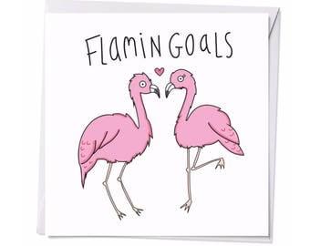 Flamingoals postcard