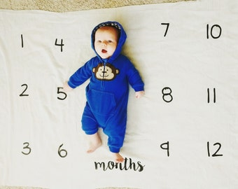 Baby Monthly Watch Me Grow Blanket, monthly count, baby shower gift, gifts under 20, gift for baby, baby photo prop, most popular baby item