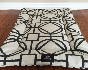 Industrial Geometric Dog Crate Bed, Dog Bed ,Dog Crate Mat, Dog Pad, Puppy Bed