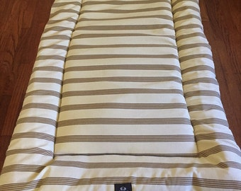 Neutral Stripes Dog Bed, Dog Crate Bed, Dog Crate Pad, Puppy Bed