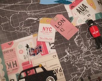 Personalised leaving frame, USA, New York, Goodbye, Bon Voyage