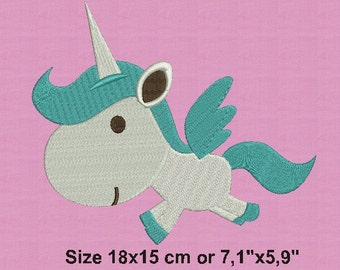 Machine embroidery designs Unicorn 2 size