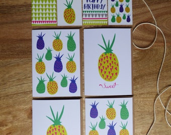 Card Pack 'Perky Pineapples'