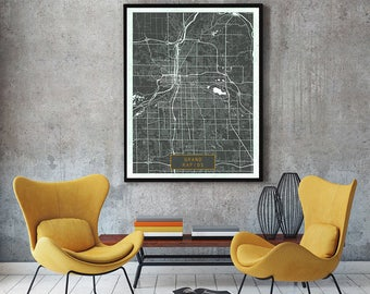 GRAND RAPIDS Michigan City Map Grand Rapids Michigan Art Print Grand Rapids Michigan poster map art United States of America Poster Jack