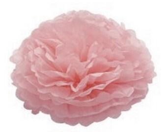 Light Pink Tissue Pom Pom | birthday party | retirement | engagement | wedding decor | nursery decor | baby shower | party decorations