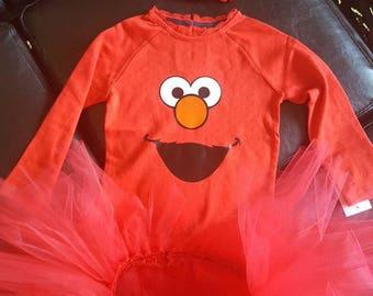 Elmo tutu outfit