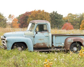 Vintage Truck Scenic Printed Backdrop (SC-BW-004)