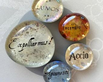 Harry Potter Spells 5 Magnet Set