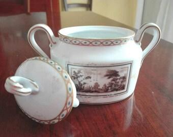 Vintage sugar bowl ginori, ginori vintage, sugar bowl.