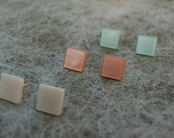 Square studs multiple colors!
