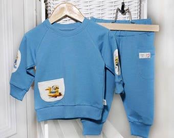 Eco friendly baby / toddler/ kids sweatshirt and pants / kids activewear / kids street wear
