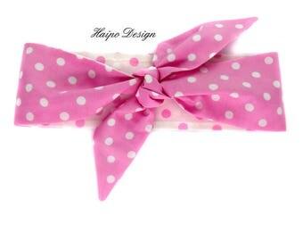 Rockabilly hairband pink