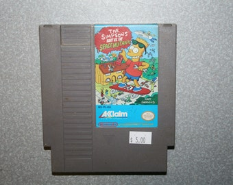 The Simpsons Bart vs the Space Mutants NES Nintendo Game Free Shipping