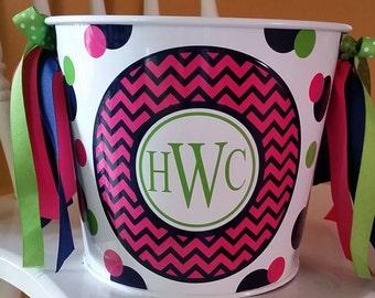Personalized Bucket - 5 Quart / Gift Basket / Easter Bucket / Beverage Pail