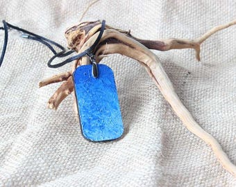 Hand painted necklace pendant, Oil painting