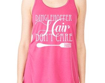 Disney Tank Dinglehopper Hair Don't care Shirt Little Mermaid Shirt Disneyland Tank Disney World Shirt Magic Kingdom Tank Disney Cruise Tank