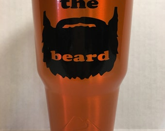 Ozark trail powdercoated Striker Orange with custom vinyl decal.  Can be done in any color just ask. Can do on a Yeti cup to cost varies.