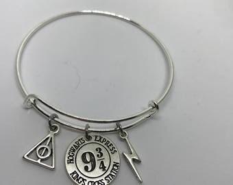 Harry Potter inspired Bangle Bracelet- Platform 9 3/4