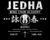 Jedha Wing Chun Academy - Chirrut Imwe Martial Arts Rebel LADIES FIT T-Shirt -  1970's Movie Sci-Fi Parody Clothing