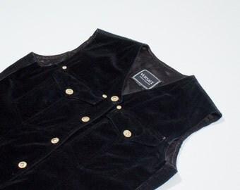 VERSACE - black velvet vest