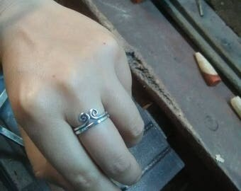 Customized 925 silver ring, band ring, Monkey king ring, silver ring, engagement ring, gift for him