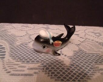 "Vintage Bone China Figurine, ""Wale"" , (# 840/LS1)"