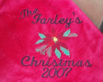 Christmas Poinsettia Blanket