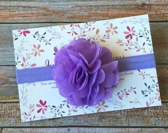 Purple Baby Headband, Purple Headband, Lavender Headband, Baby Headband, Infant Headband, Newborn Headband, Baby Girl Headband, Headband