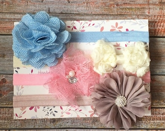 Set of 4 Baby Headbands/Baby Headband Set/Baby Headband/Newborn Headband/Infant Headband/Toddler Headband/Baby Girl Headband/Baby Hair Bows
