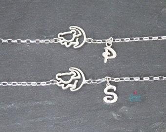 Simba The Lion King Silver bracelet | Hakuna Matata Bracelet | Simba bracelet | The Lion King Disney jewellery | Sterling Silver Simba bracelet