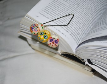 Bookmark skulls / Marker / Separator / Point of Book / Clip / Gift / Planner Accessories