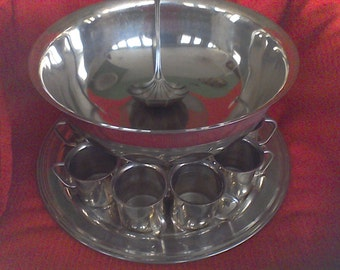 Silver plated Punch Bowl Set, Entertaining Dining, fine dining, Wedding, Party