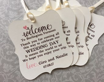 Atlanta Wedding Gift Bag Ideas : wedding tags 2 welcome gift bag tags welcome tags welcome guest gift ...