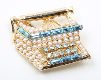 Vintage Typewriter Brooch