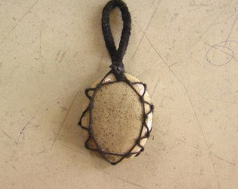 fossil coral Macrome Pendent Wire Wrapped Pendent Gemstone